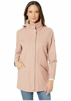 Ralph Lauren Cotton Anorak with Faux Leather Trim and Hood