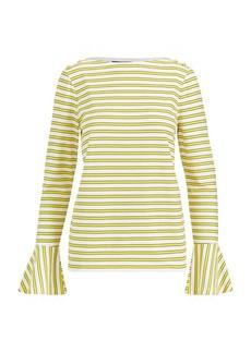 Ralph Lauren Cotton Bell-Sleeve Top