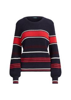 Ralph Lauren Cotton Bishop-Sleeve Sweater