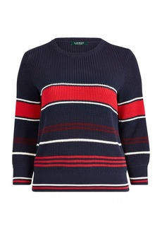 Ralph Lauren Cotton Bishop-Sleeve Sweater