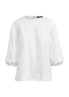 Ralph Lauren Cotton Bishop-Sleeve Top