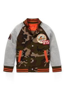 Ralph Lauren Cotton-Blend Baseball Jacket