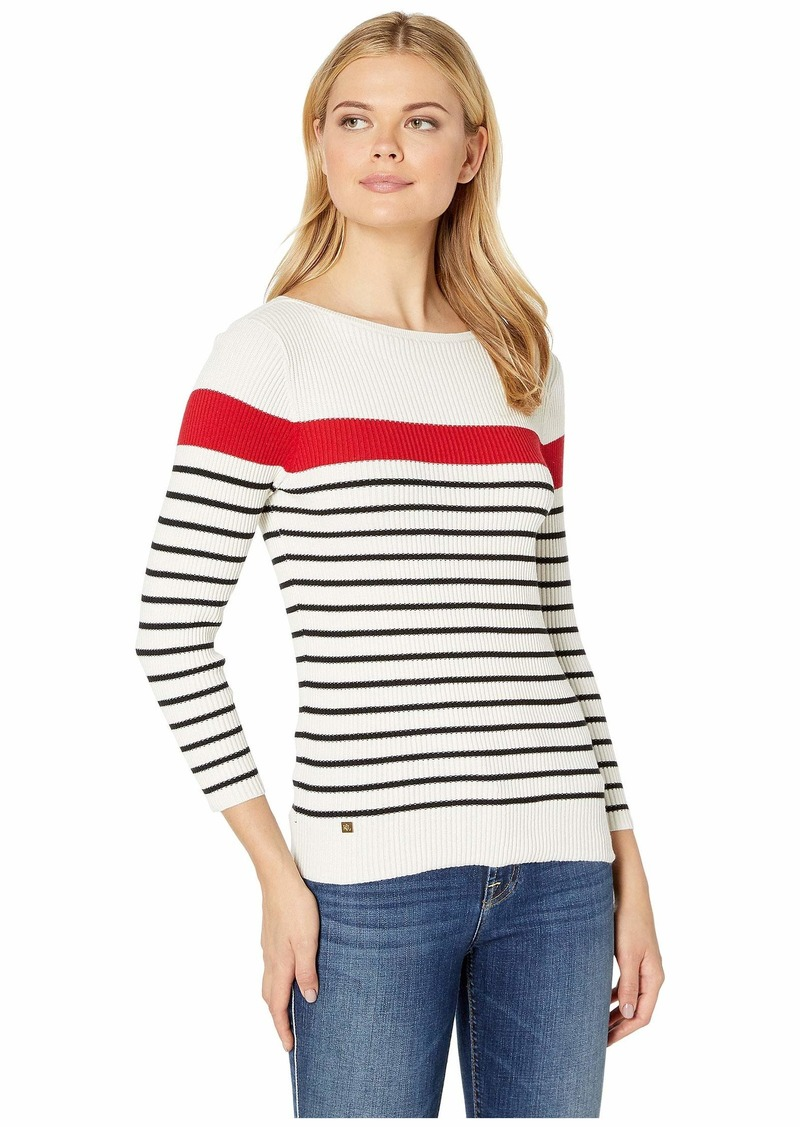 Ralph Lauren Cotton-Blend Boat Neck Sweater