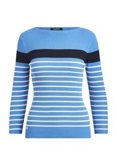 Ralph Lauren Cotton-Blend Boatneck Sweater
