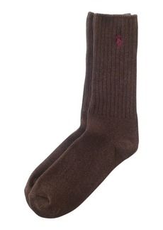 Ralph Lauren Cotton-Blend Crew Socks