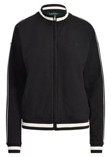 Ralph Lauren Cotton-Blend Mockneck Jacket