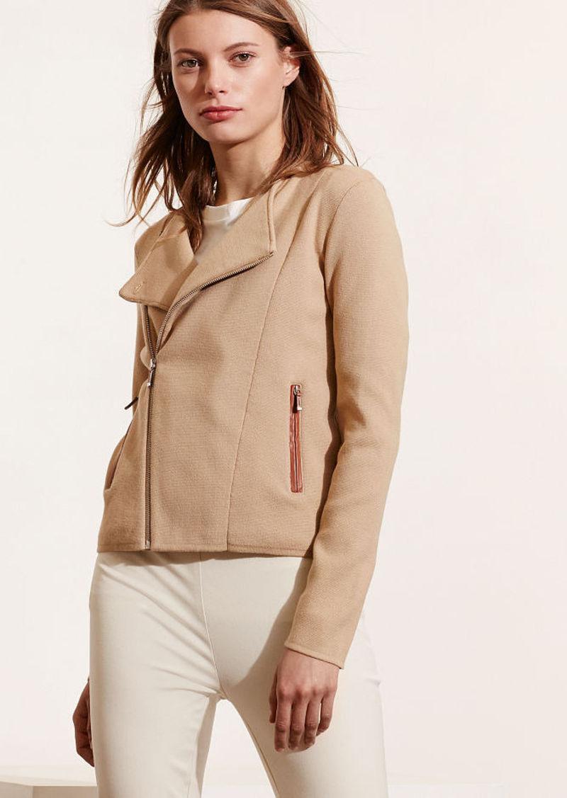 Ralph Lauren Cotton-Blend Moto Sweater