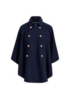 Ralph Lauren Cotton-Blend Poncho Coat