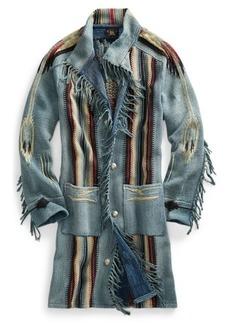 Ralph Lauren Cotton-Blend Shawl Sweater