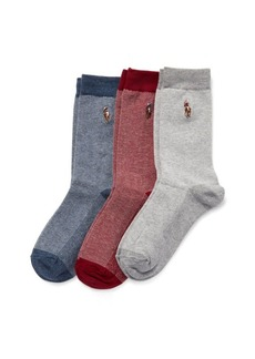 Ralph Lauren Cotton-Blend Sock 3-Pack
