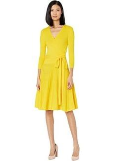 Ralph Lauren Cotton-Blend Surplice Dress