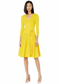 Ralph Lauren Cotton-Blend Surplice Dress