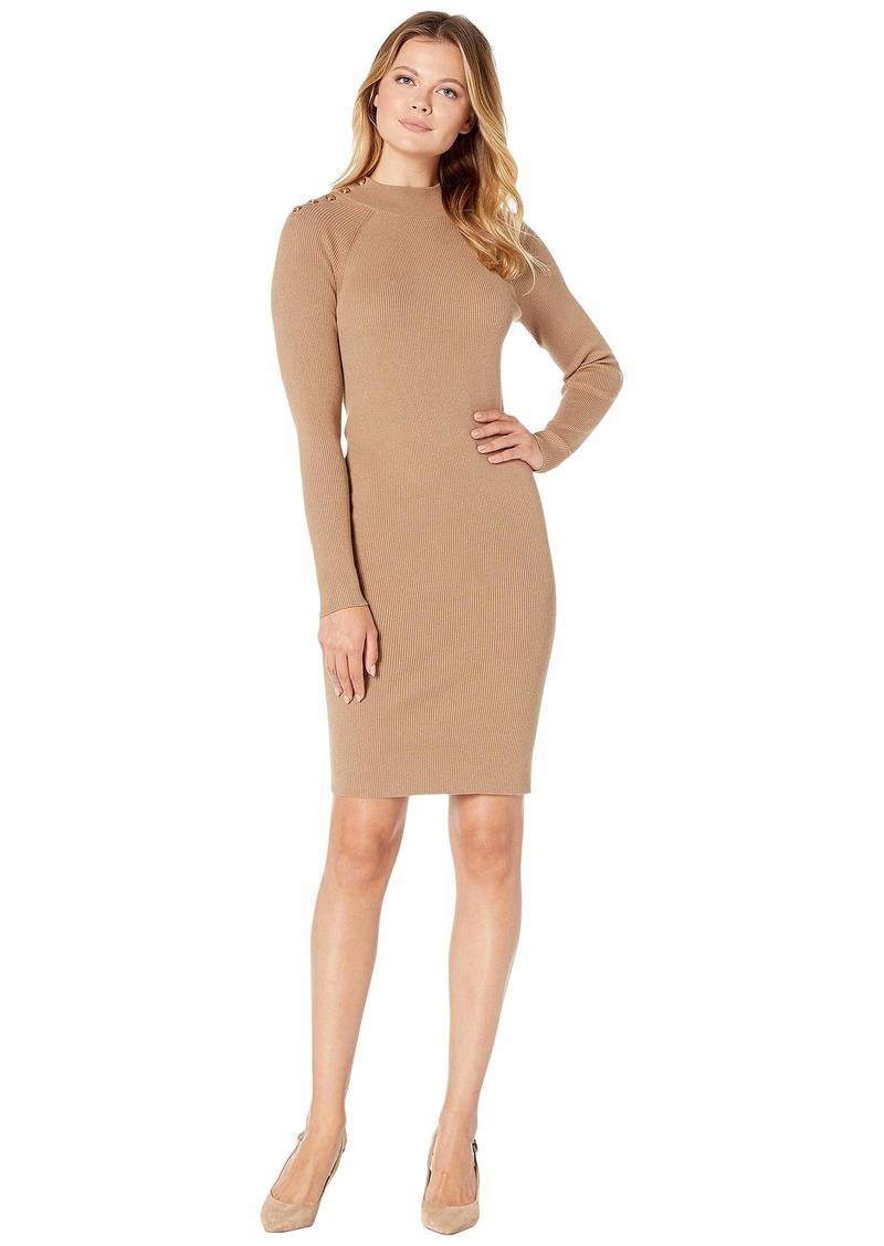 Ralph Lauren Cotton-Blend Sweater Dress