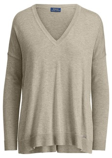 Ralph Lauren Cotton-Blend V-Neck Sweater