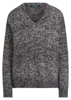 Ralph Lauren Cotton-Blend V-Neck Sweater