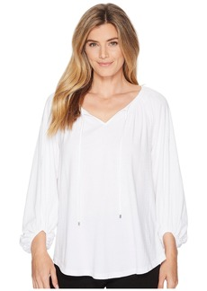 Ralph Lauren Cotton-Blend V-Neck Top