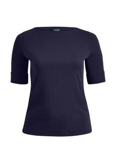 Ralph Lauren Cotton Boatneck T-Shirt
