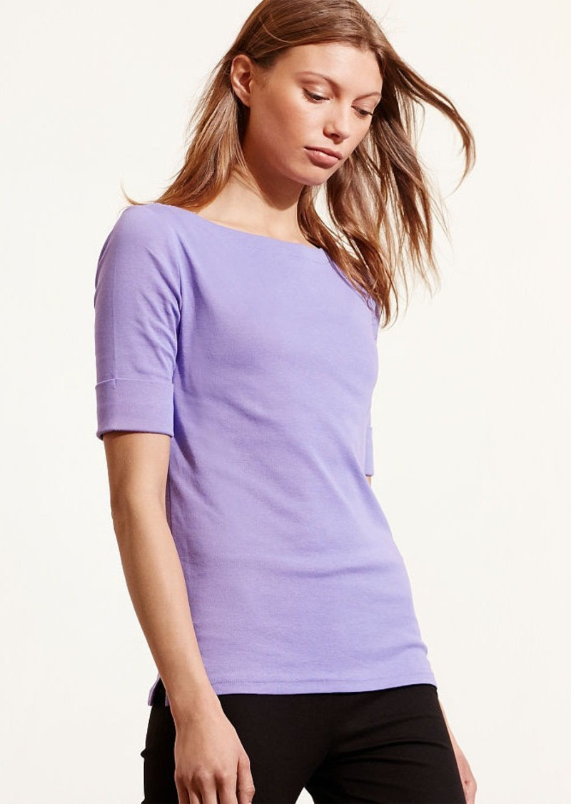 Ralph Lauren Cotton Boatneck Top