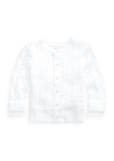 Ralph Lauren Cotton Cable-Knit Cardigan  6-24 Months