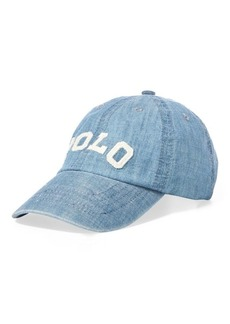Ralph Lauren Cotton Chambray Baseball Cap