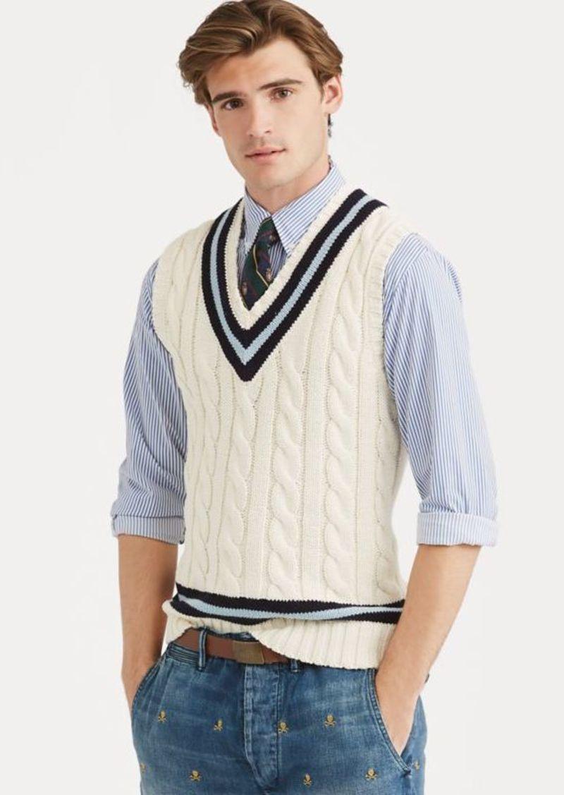 Ralph Lauren Cotton Cricket Sweater Vest Sweaters