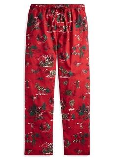 Ralph Lauren Cotton Flannel Pajama Pant