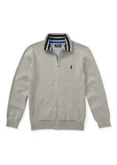 Ralph Lauren Cotton Full-Zip Sweater