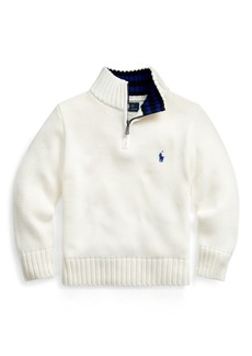 Ralph Lauren Cotton Half-Zip Sweater