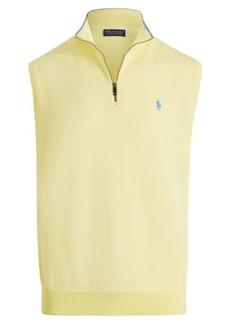 Ralph Lauren Cotton Half-Zip Sweater Vest