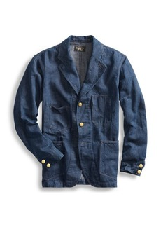 Ralph Lauren Cotton-Hemp Denim Sport Coat