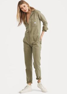Ralph Lauren Cotton Herringbone Jumpsuit