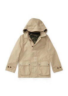 Ralph Lauren Cotton Hooded Walking Coat