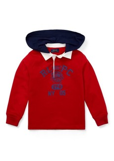 Ralph Lauren Cotton Jersey Hooded Rugby