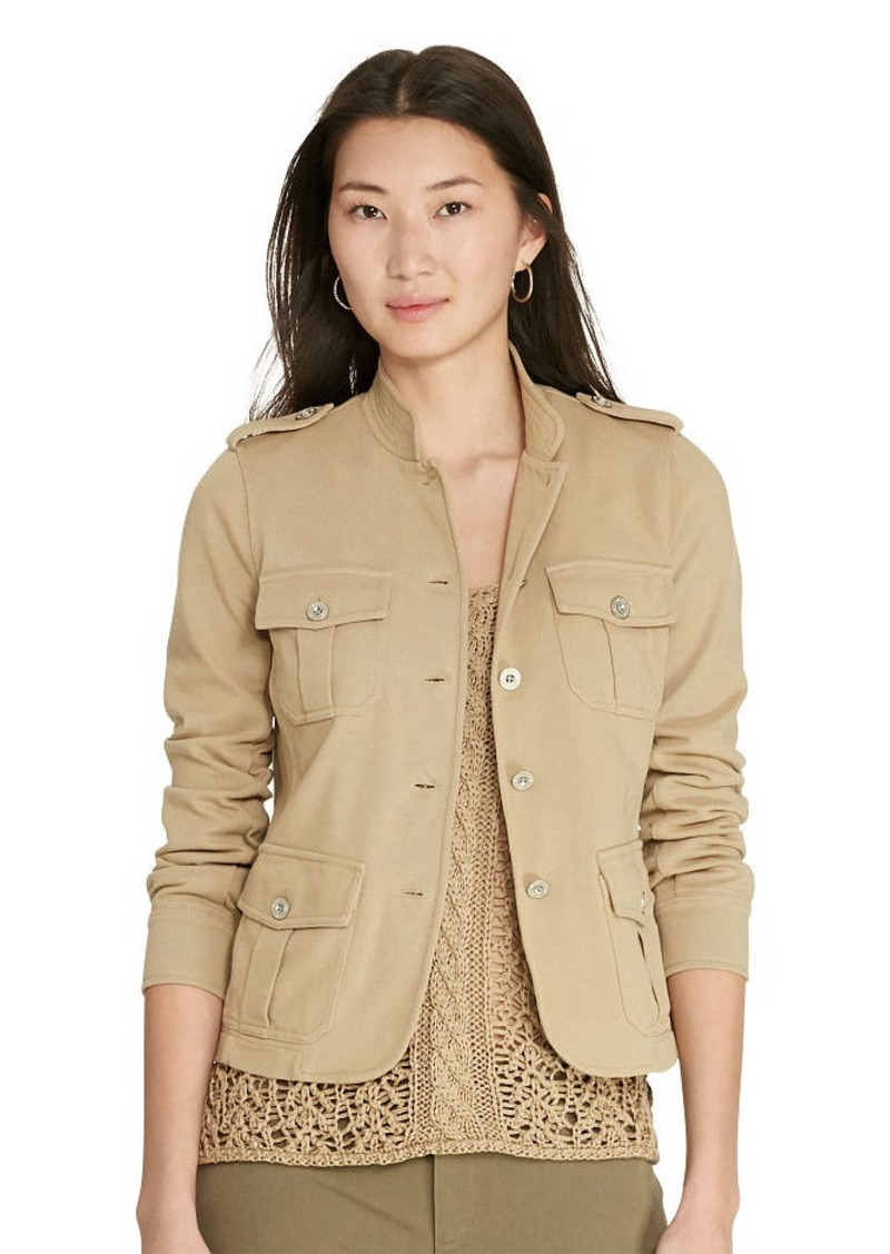 Ralph Lauren Cotton Jersey Military Jacket
