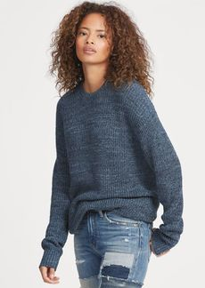Ralph Lauren Cotton-Linen Crewneck Sweater