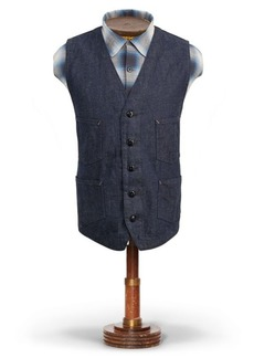 Ralph Lauren Cotton-Linen-Denim Vest