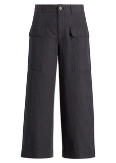 Ralph Lauren Cotton-Linen Wide-Leg Pant