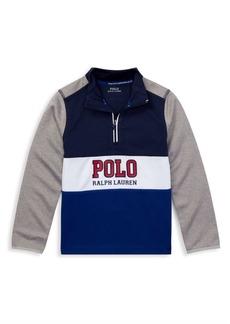 Ralph Lauren Little Boy's & Boy's Long Sleeve Half-Zip Logo Pullover