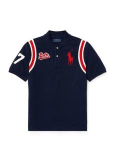 Ralph Lauren Cotton Mesh Baseball Shirt