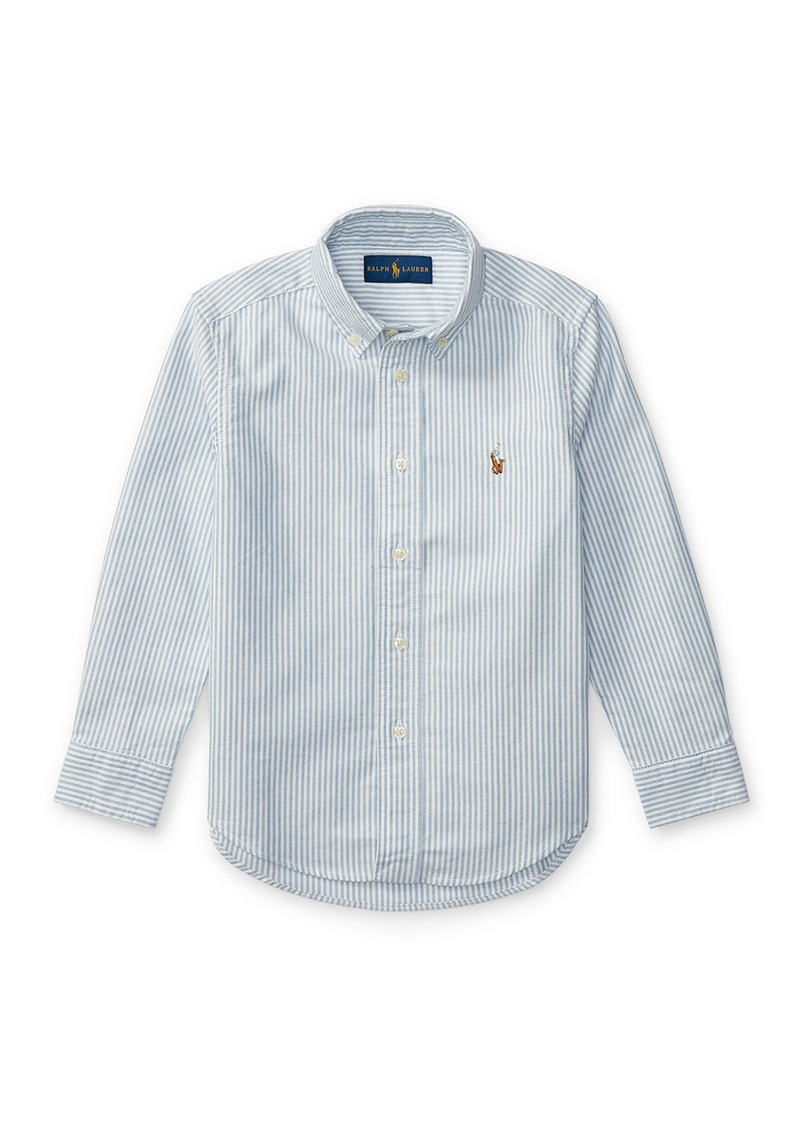 Ralph Lauren Cotton Oxford Stripe Sport Shirt  Size 2-3