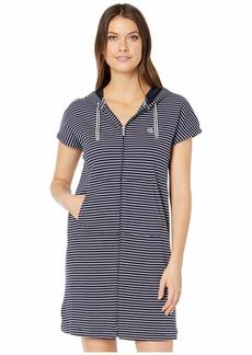 Ralph Lauren Cotton Polyester Interlock Drop Shoulder Hooded Zip Lounger