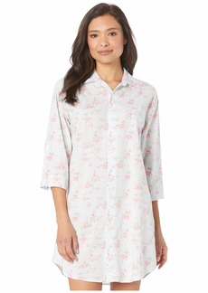 Ralph Lauren Cotton Rayon Lawn Woven 3/4 Sleeve Roll Tab Sleeve His Shirt Sleepshirt
