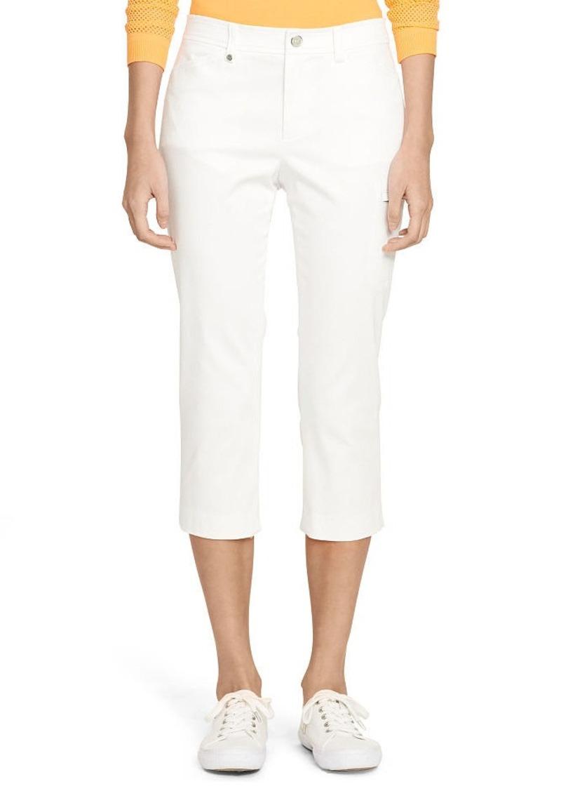 Ralph Lauren Cotton Sateen Cropped Pant