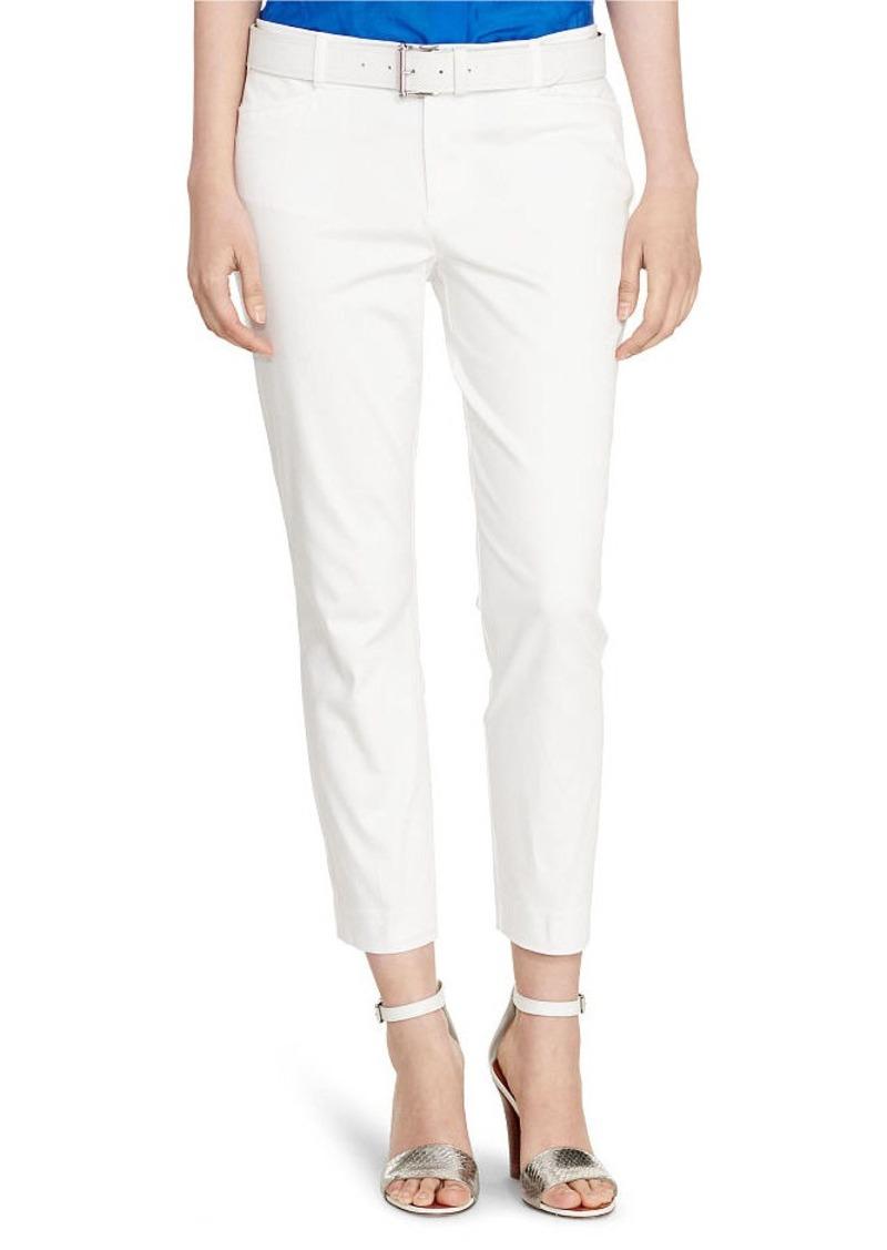 Ralph Lauren Cotton Sateen Skinny Pant