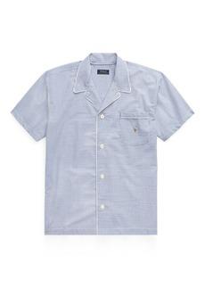 Ralph Lauren Cotton Seersucker Pajama Shirt
