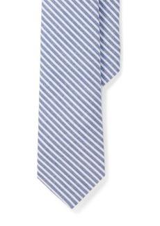 Ralph Lauren Cotton Seersucker Tie