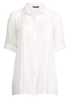 Ralph Lauren Cotton Shirtdress Cover-Up