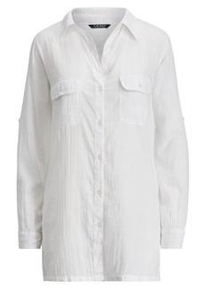 Ralph Lauren Cotton Shirtdress Cover-Up