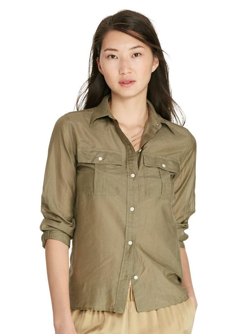 Ralph Lauren Cotton-Silk-Voile Shirt