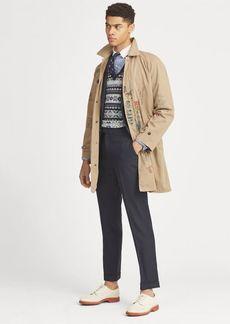 Ralph Lauren Cotton Twill Balmacaan Coat